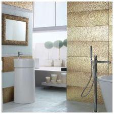 Дизайн интерьера ванной в золотом цвете -11