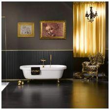Дизайн интерьера ванной в золотом цвете -6