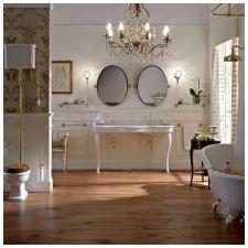 Дизайн интерьера ванной в золотом цвете -9