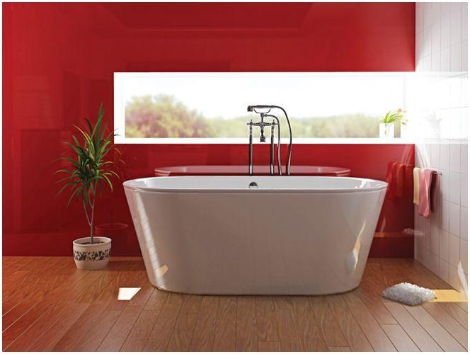 Фото красной ванной комнаты
