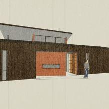 Дизайн небольшого жилого дома в США-18