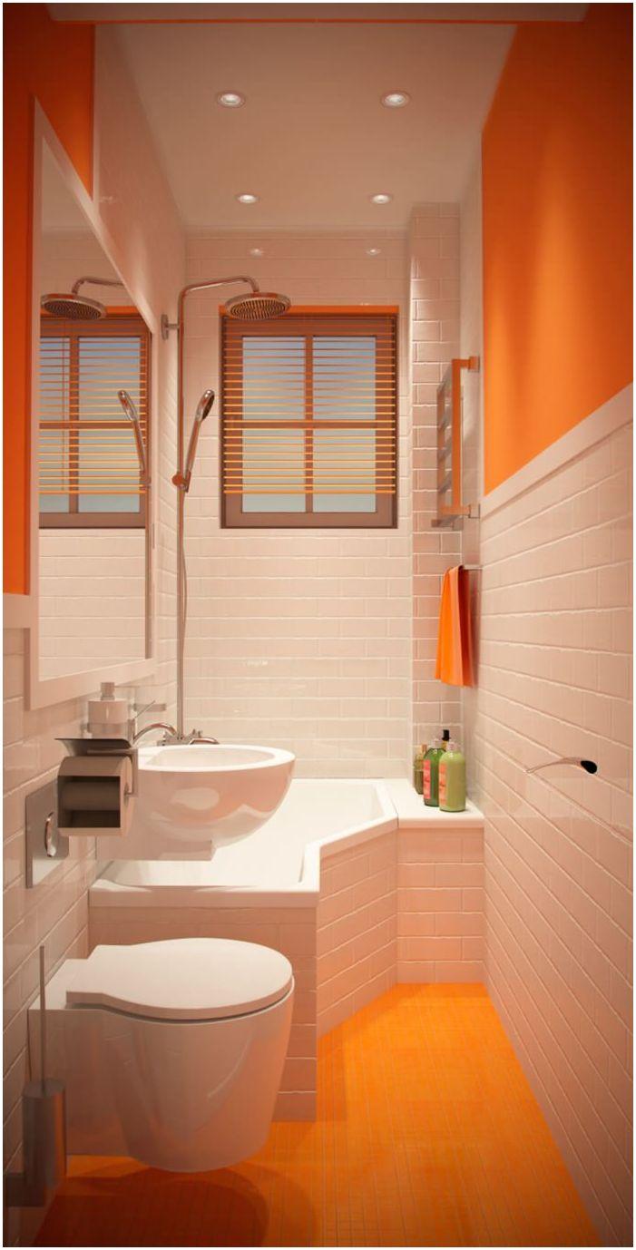 Дизайн на много малка баня 2 кв. м.