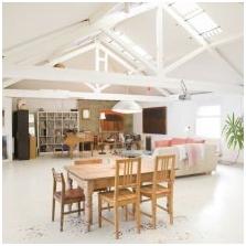 Дизайн потолка с балками-6