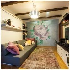 Дизайн потолка с балками-1
