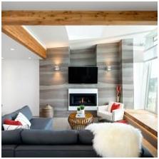 Дизайн потолка с балками-3