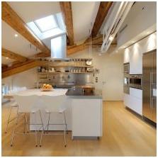 Дизайн потолка с балками-4