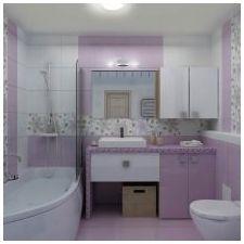 Дизайн на люлякови бани: функции, снимка-6