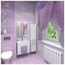 Дизайн на люлякови бани: функции, снимка-8