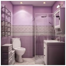 Дизайн на люлякови бани: функции, снимка-12