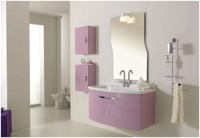 Дизайн за баня от люляк