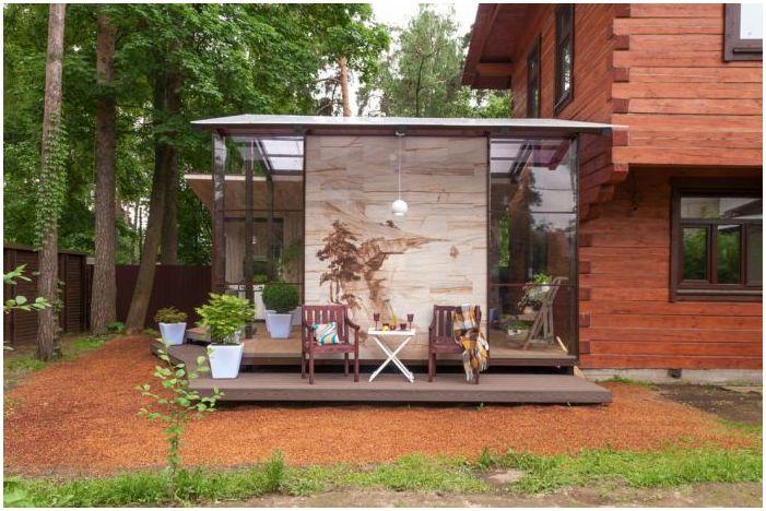 дизайн на тераса в частна къща
