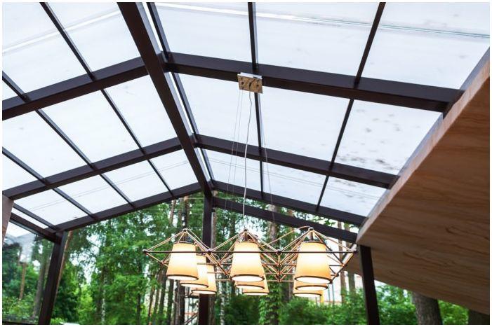 дизайн на тераса на покрива в частна къща