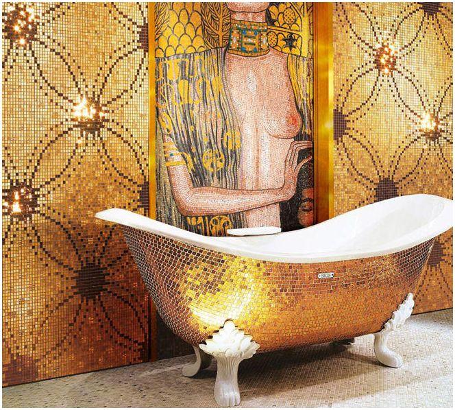 мозайка в интериора на банята