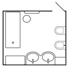Projekt łazienki w odcieniach bieli 10 mkw. m-1