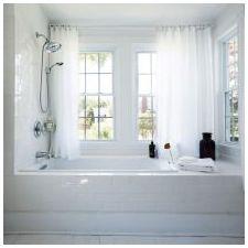 Дизайн ванной комнаты в белых тонах: особенности, фото-4