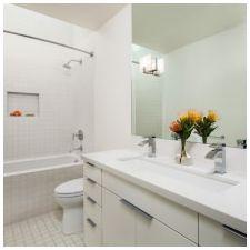 Дизайн ванной комнаты в белых тонах: особенности, фото-6