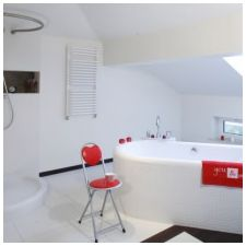 Дизайн ванной комнаты в белых тонах: особенности, фото-9