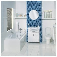 Дизайн на баня в бели тонове: функции, снимка-14