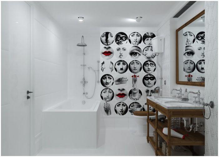 интериор на банята в бяло