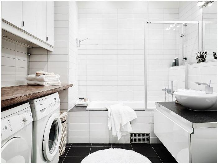 бял дизайн на банята
