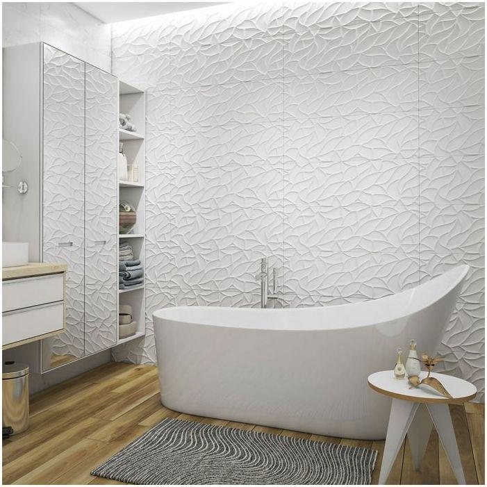 Łazienka w białej tonacji 10 mkw. m.