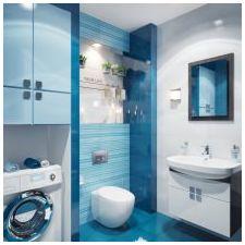 Дизайн на баня в сини тонове-2
