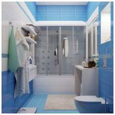 Дизайн на баня в сини тонове-3
