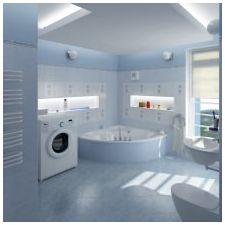 Дизайн на баня в сини тонове-4
