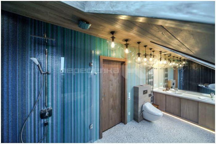 oświetlenie łazienki na poddaszu