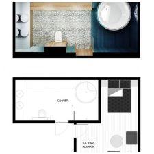 Projekt łazienki na poddaszu 9 mkw. m-1