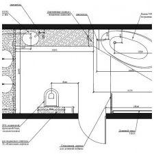 Дизайн на баня в таванското помещение 9 кв. m-2