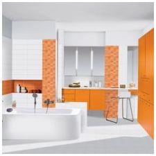 Дизайн ванной комнаты в оранжевом цвете-10