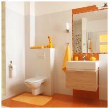Дизайн ванной комнаты в оранжевом цвете-13