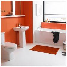Дизайн ванной комнаты в оранжевом цвете-14