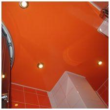 Дизайн ванной комнаты в оранжевом цвете-15