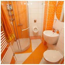 Дизайн ванной комнаты в оранжевом цвете-16