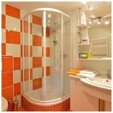 Дизайн ванной комнаты в оранжевом цвете-2