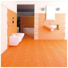 Дизайн ванной комнаты в оранжевом цвете-4