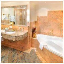 Дизайн ванной комнаты в оранжевом цвете-6