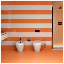 Дизайн ванной комнаты в оранжевом цвете-7