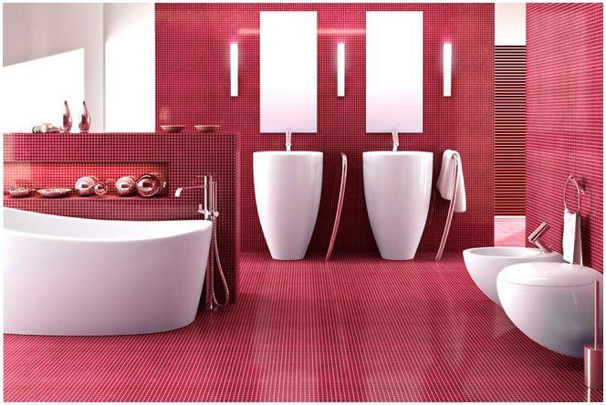 розова снимка за баня