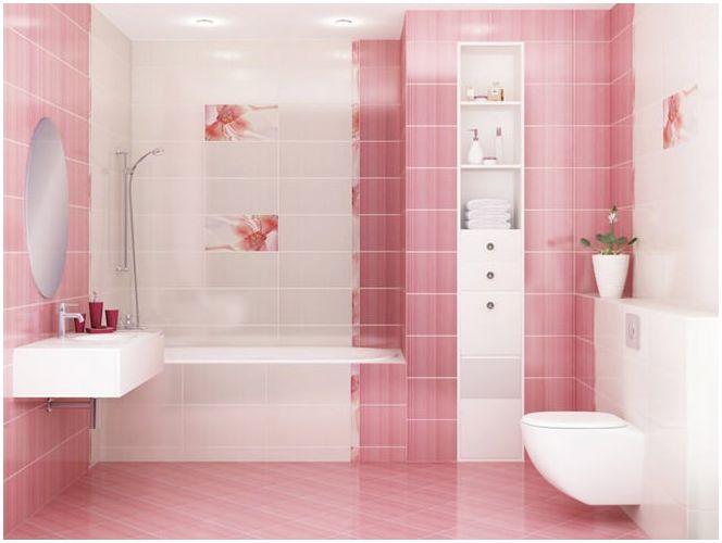 баня в розово