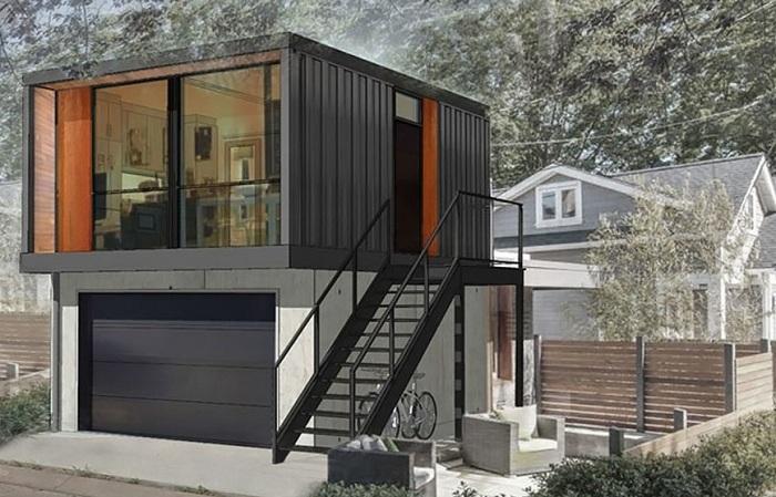 Dom kontenerowy zaprojektowany przez HonoMobo.