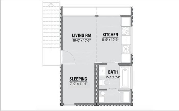 Układ pomieszczeń w modelu HO2.
