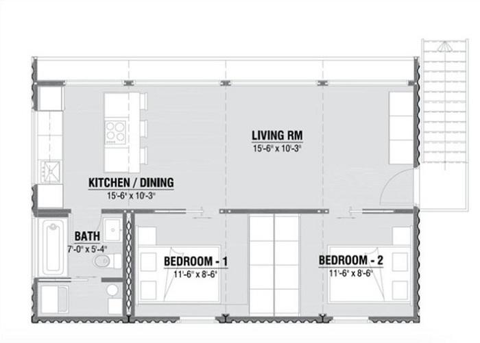 Układ pomieszczeń w HO4.