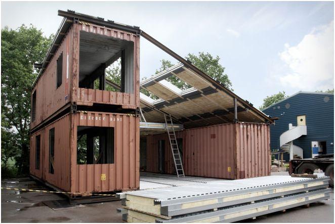 Къща на контейнери за превоз