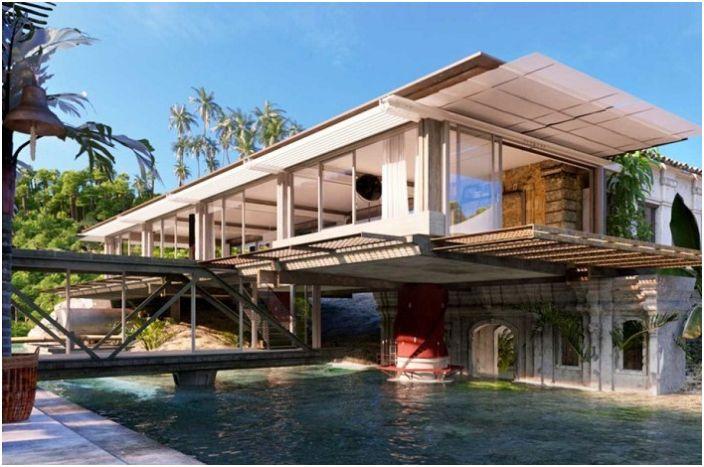 Bay House е къща, преустроена от индустриален обект.