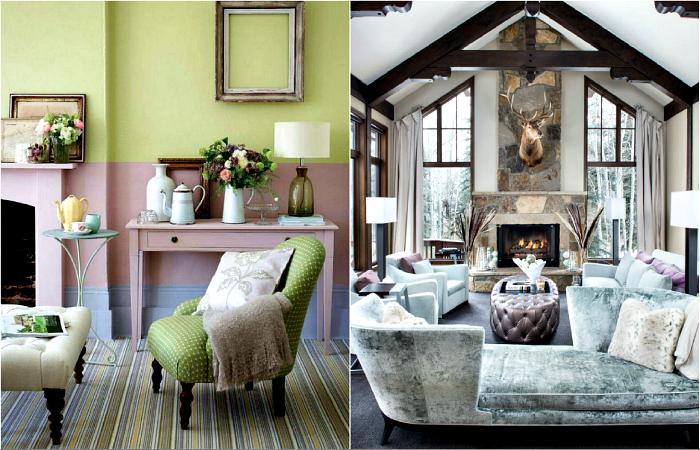 Стилен интериор в пастелни цветове.