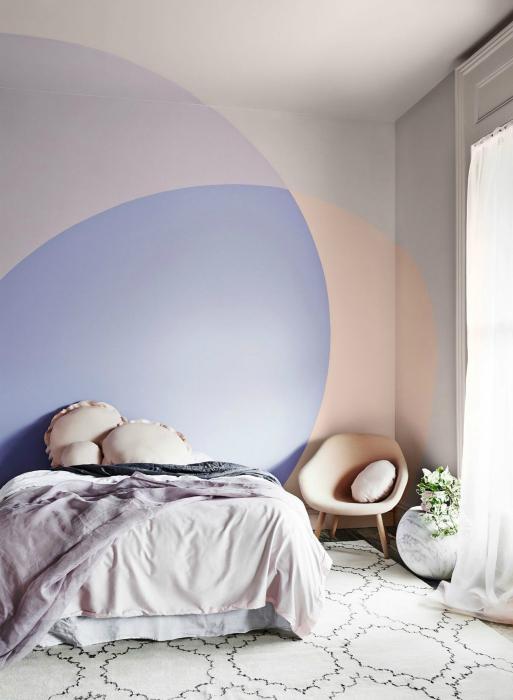 Уникален декор за стена за спалня.