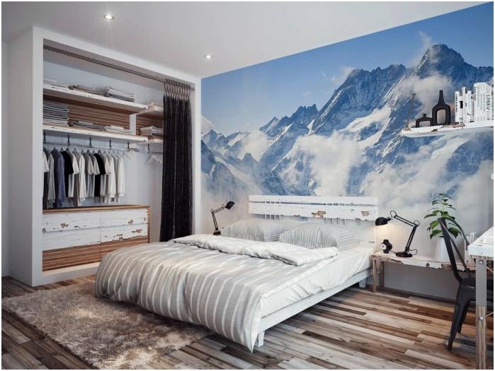 фототапет в модерен интериор на спалнята